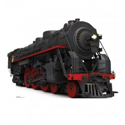 Black and Red Steam Train