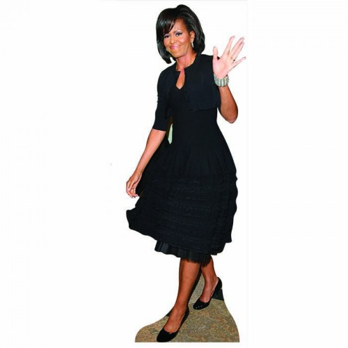 Michelle Obama Black Dress Cardboard Cutout